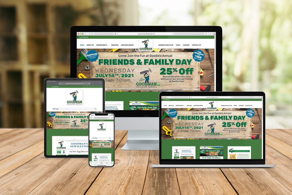 Wordpress-Website-Redesign-Goodman-Building-Supply-Store-Golden-Shores-Communications-Brand-Agency